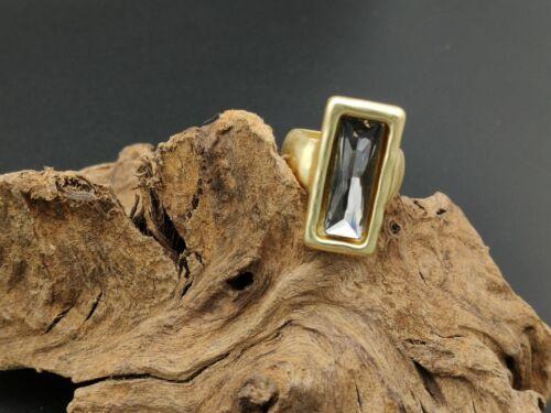 Anillo DORADO mujer Zamak baño plata cristal GRIS anillos bisuteria regalo