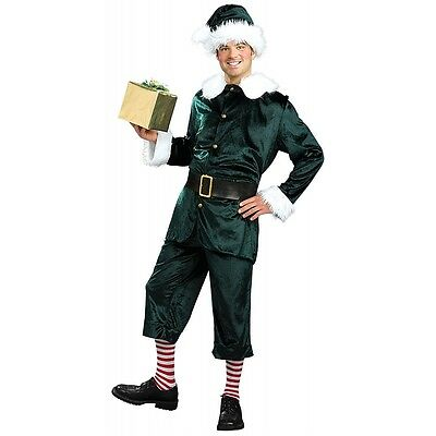 Elf Costume Adult Funny Christmas Outfit for Men SantaCon Fancy Dress