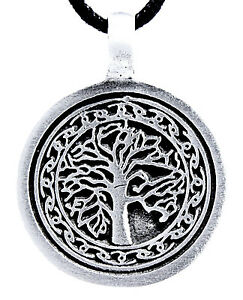 Tree of Life Chains pendant Pewter Incl Band, Path Yggdrasil World Tree Nr.52