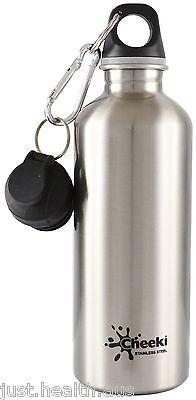 Cheeki 500ml Silver Stainless Steel Water Bottle