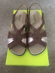 Hotter-Flare-Size-4-5-Dark-Tan-Multi-Sandals