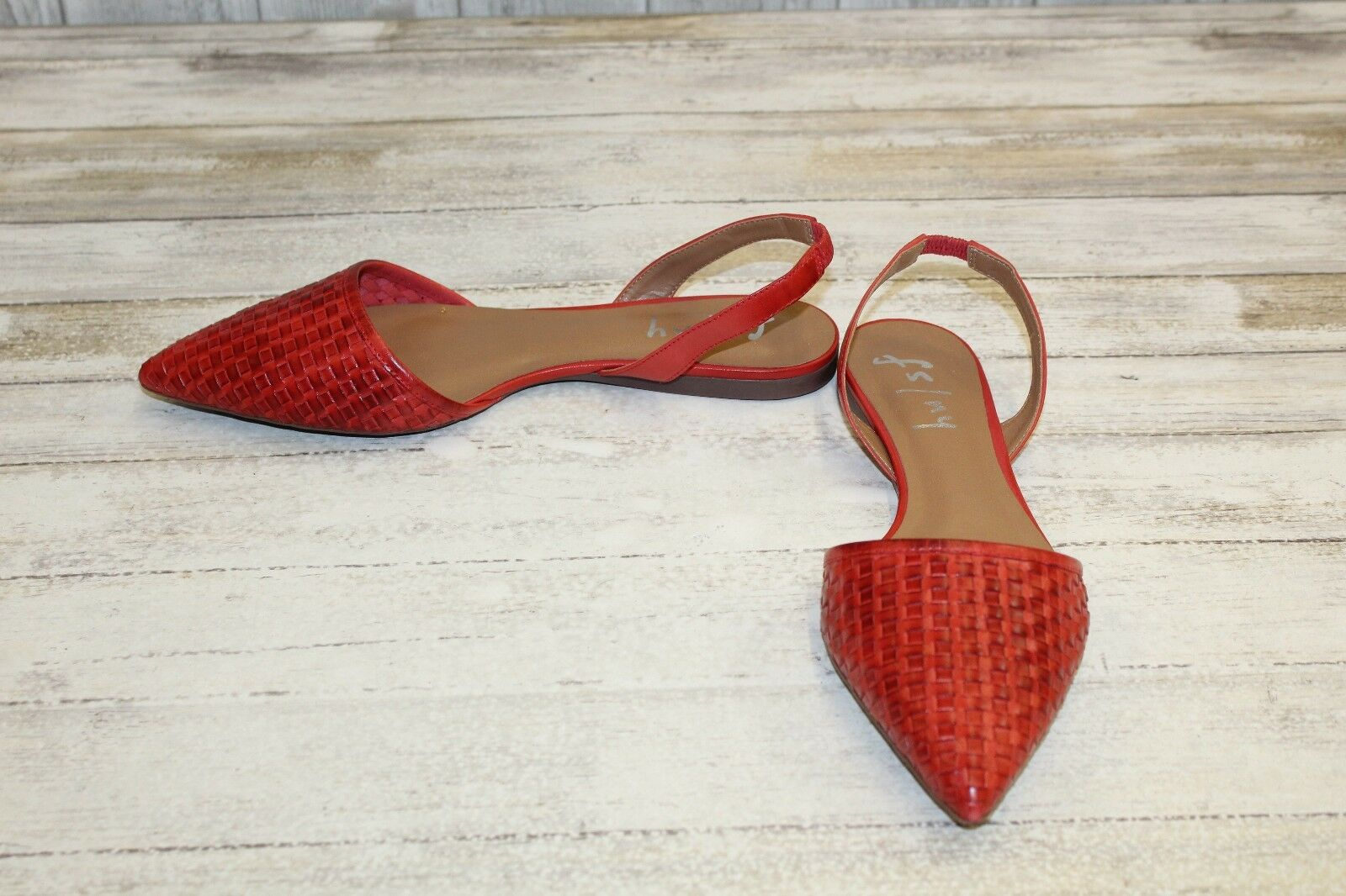 French Sole FS NY Women's Volume Pointed Toe Flat -Size 9 M, Red