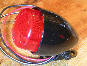 Mini Feu arrière Texas Noir//rouge pour Moto Harley Chopper Bobber Custom