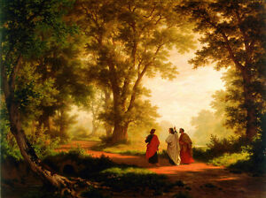 Home-Art-wall-decor-Print-oil-painting-Robert-Zund-The-Road-to-Emmaus-Canvas-yi9