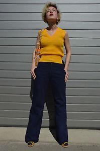Damen-Strickwaren-Strick-Pullunder-70er-TRUE-VINTAGE-70-039-s-knitwear-slipover-NOS