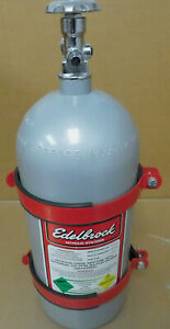 Edelbrock-72301-Aluminum-10LB-Nitrous-Bottle-amp-72600-Bottle-Brackets-Empty