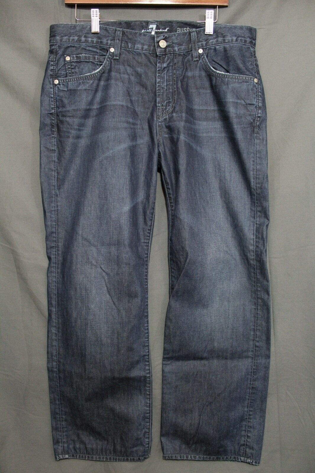 Men's 7 For All Mankind Austyn Relaxed Straight Fit Jeans MADE IN USA  34