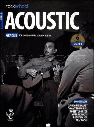 Rockschool Acoustic Guitar Grade 8 TAB /& Music Book//Audio Exam from 2019 Rock