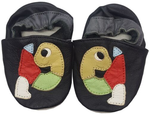 CC SOFT LEATHER BABY SHOES PRAM GIRLS BOYS 0-6,6-12,12-18,18-24 MONTHS