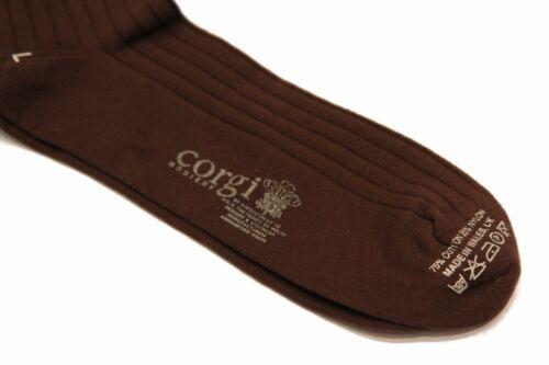 Corgi Cotton Blend Brown Brown handmade cotton blend socks