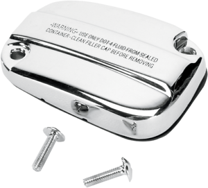 Drag Specialties Front Brake Master Cylinder Cover with Sight Glass Chrome