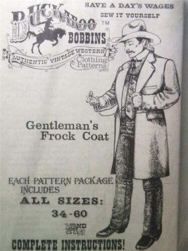 Buckaroo Bobbins Gentleman/'s Frock Coat Mens Clothing Reenactment Sewing Pattern