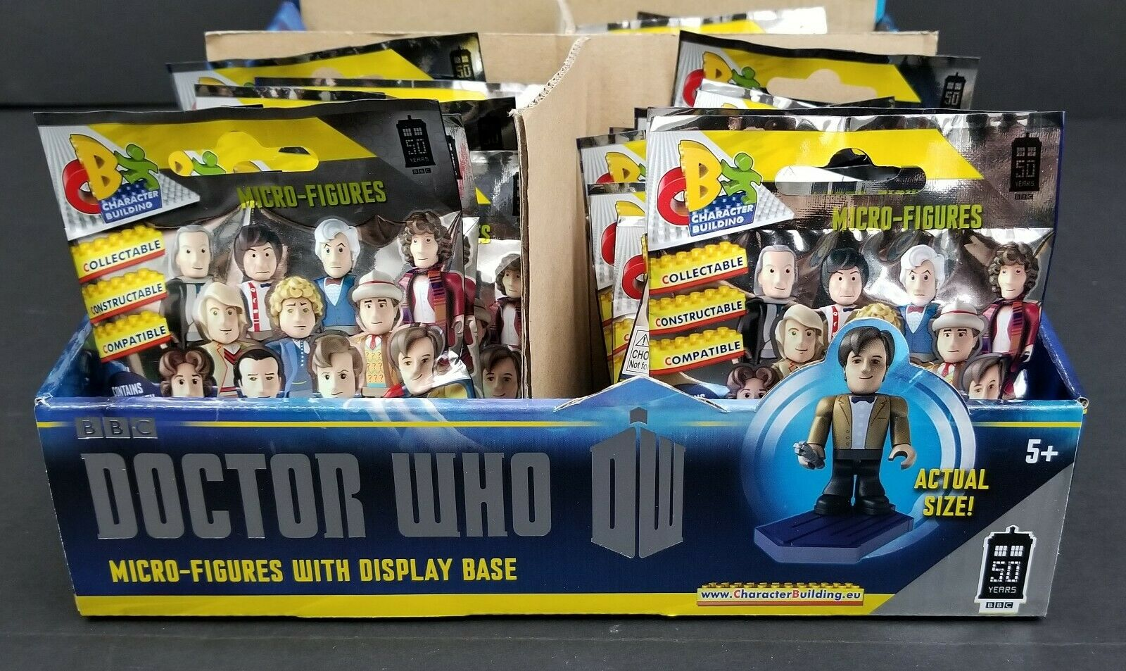 Doctor Who Micro Figures  50th Anniversary Case of 35 - Minifigures - Character