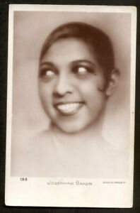 JOSEPHINE-BAKER-RARE-REAL-PHOTO-VINTAGE-POSTCARD-1927-28s-GREAT-CARD