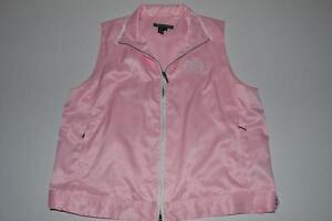 Pink Zip Size Lauren Large L Ralph Womens Full Vest Active 6wBcxpSqZ