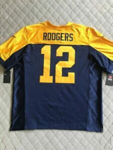 new arrivals f40e7 15b0e Nike Aaron Rodgers Packers Throwback Onfield Stitched NFL Elite Jersey Sz  2x 52