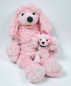 Set Of Dog Stuffed Animals, Build A Bear Pink French Poodle Plush Dog Mini Puppy Set Stuffed Animal 18 Ebay