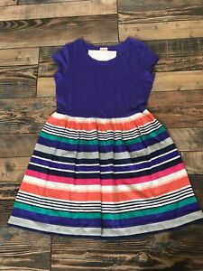 GYMBOREE-NWT-Mix-N-Match-Knit-Purple-Stripe-Dress-Girls-Size-M-7-8
