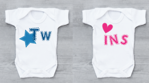 Twins Baby Grow New Arrival Bodysuit Vest Gift Set Idea Boy And Girl