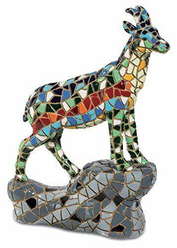 Mosaic Effect Mountain Goat Figurine