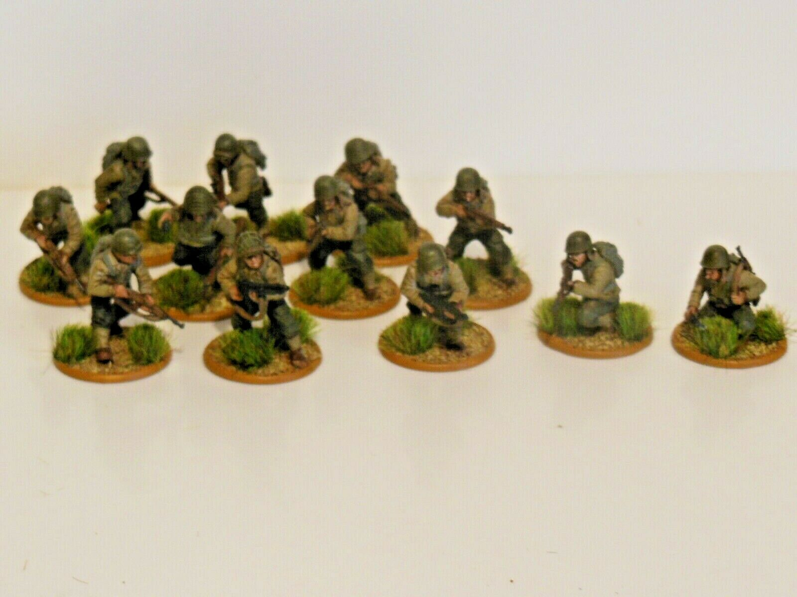 28mm Bolt Action Chain Of Command US Infantry & Sniper Team 12 Figures  N1