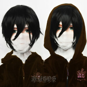 Anime Angels of Death Isaac Foster Zack Wig Woman Black Short Hair Party Cosplay