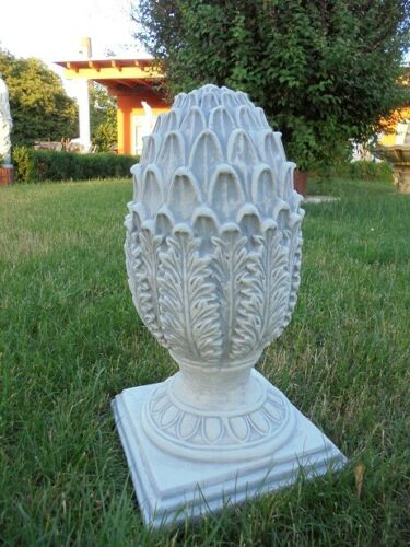 Pfeilerkrone Pfeilerabdeckung Gartendeko Pinienzapfen 51 cm Steinguss Statue