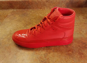 975549ee0d5c New! Balenciaga Dipping Effect Red High Top Sneakers Mens 9 US 42 ...