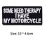 miniature 49 - Biker Patches Embroidered Iron on Sew on Word Slogans Patch Transfer Motorcycle