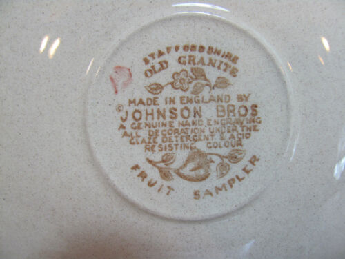 S OLDER PATTERN JOHNSON BROS OLD GRANITE FRUIT SAMPLER CUP /& SAUCER S