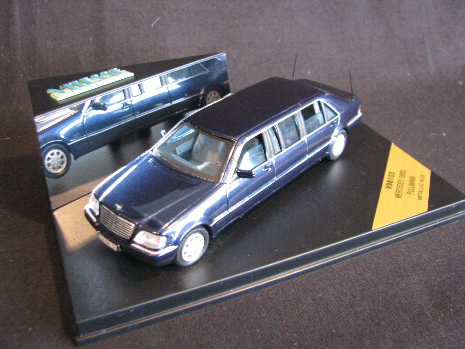 Vitesse Mercedes-Benz S 600 Pullman 1999 1 43 bluee (JS)
