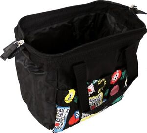 Details About 6 Pocket Zipper Closure Bingo Dauber Tote Bag Black