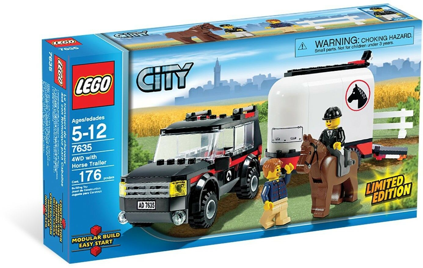 BRAND NEW Lego City FARM 4WD WITH HORSE TRAILER 7635