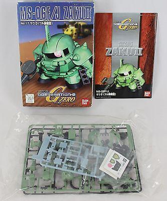 New Bandai 1999 72795-400 G Zero Generation-0 No.17 Ms-06f/j Zaku Ii Open Box Anime