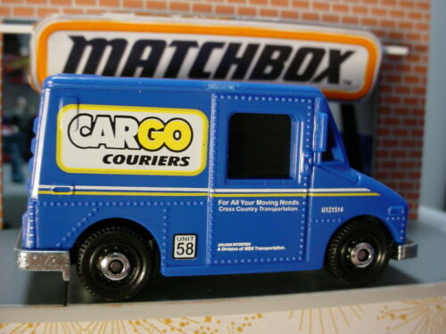 2020 MBX COUNTRYSIDE Design MBX SERVICE TRUCK blue CARGO Moving Matchbox LOOSE