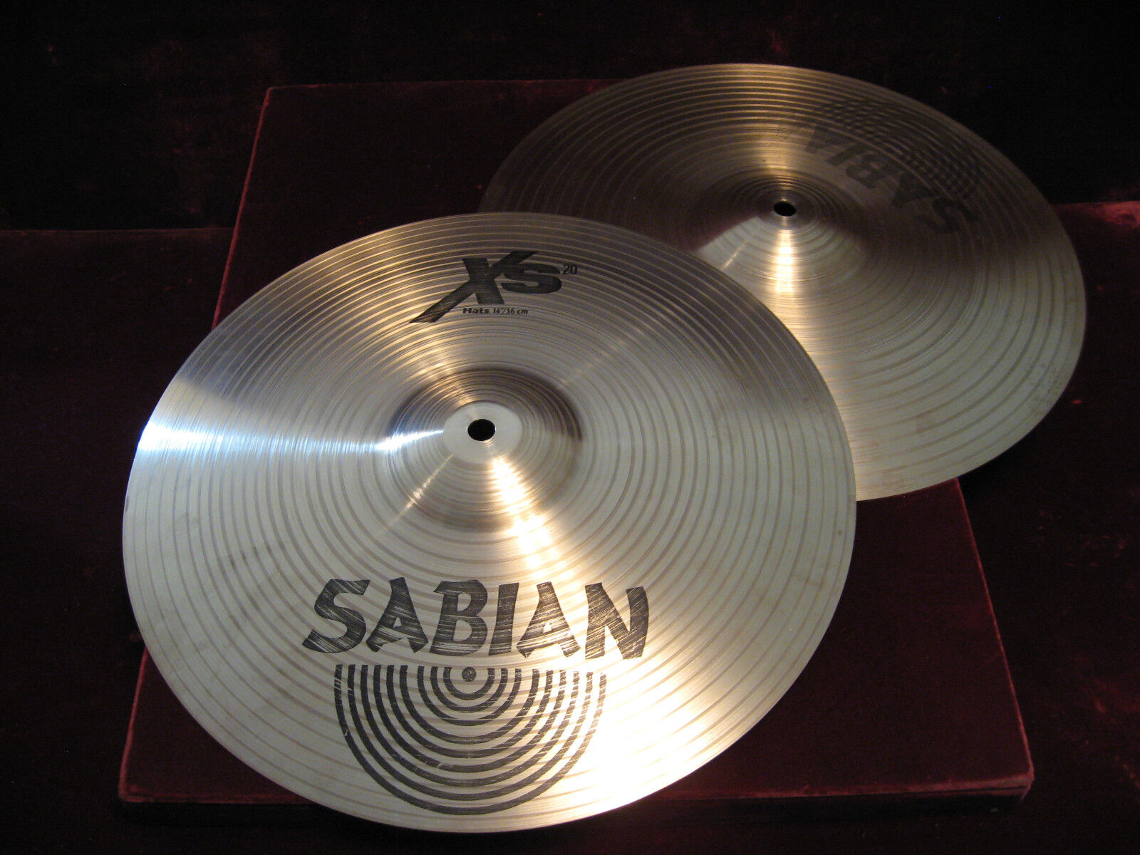 SABIAN Xs 20 Matched Pair 14  HI-HAT CYMBALS - Exc Lightly Used Clean Cond L@@K