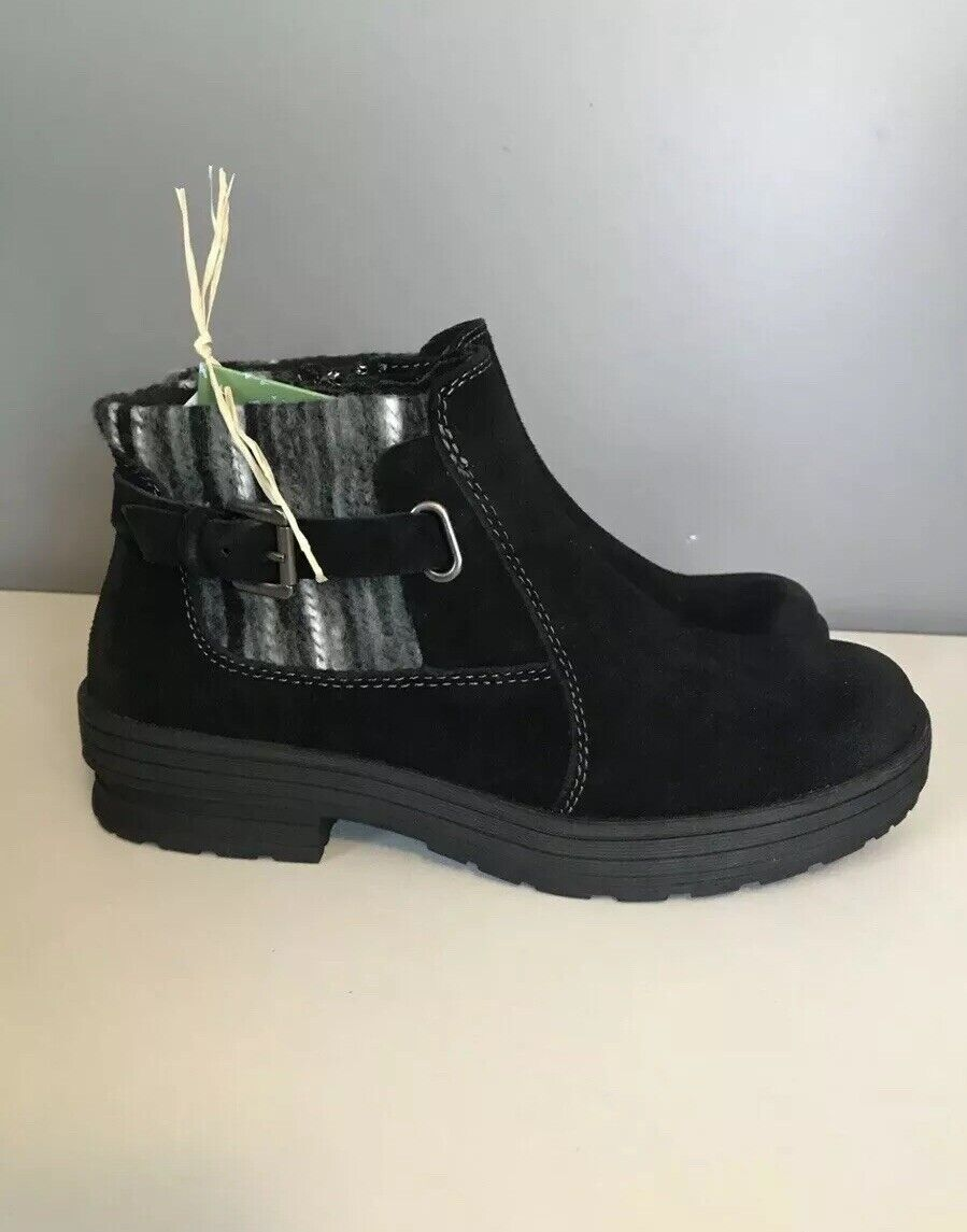 Earth Origins Water Repellent Suede Ankle Boots - Tate Size 7 Womens