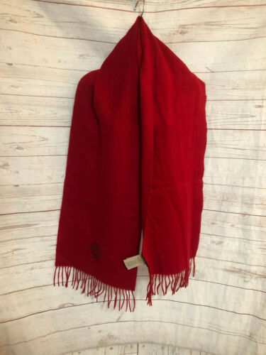 Authentic Gianni Versace Italy Women's Red Fringed