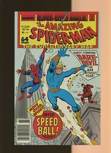Amazing Spider-Man Annual 22 VF/NM 9.0 *1* 1st Speedball! Signed by Mark Bagley!
