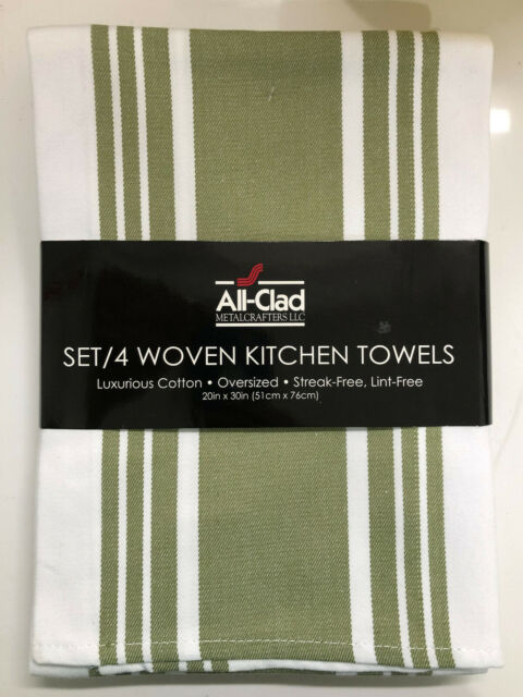 S 4 Woven Kitchen Towels Lint Free Upc