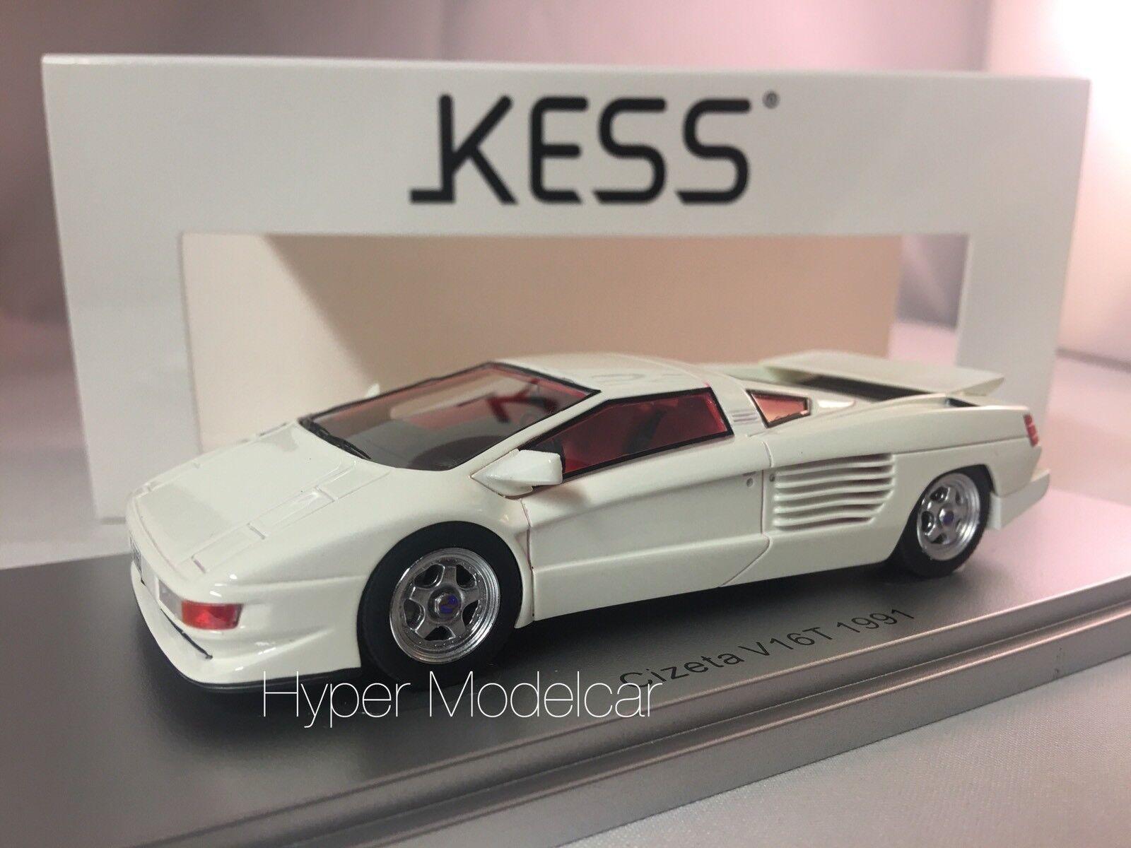 KESS MODEL 1 43 Cizeta V16T 6,4 16cil 64v 1991 blanc Art. KE43048001