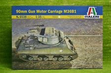 90 mm GUN MOTOR CARRIAGE M36B1 WW2 Vehicle1/35 Scale Italeri Kit 6538