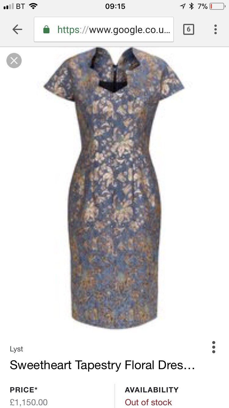 Barbara Tfank Sweetheart Tapestry Dress