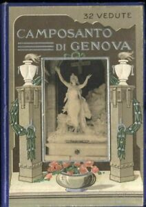 CAMPOSANTO-DI-GENOVA-32-VEDUTE-ORIGINALE-ANNI-039-30-libretto-cartoline-fisarmonica