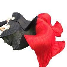 100% Silk Belly Dance Veil Fan Stage Performance Fan Real Silk Dance Veil Fan
