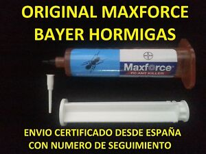 1-MAXFORCE-FC-MATAR-ELIMINAR-HORMIGAS-HORMIGUERO-BAYER-1-TUBO-JERINGA-GEL-27g