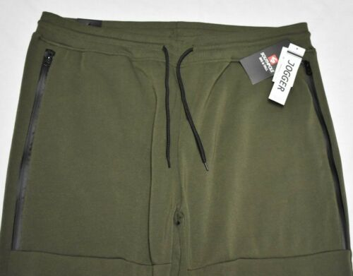 Southpole Jogger Pants Men/'s Zip Pocket Fleece Sweatpants Olive Green Urban P322