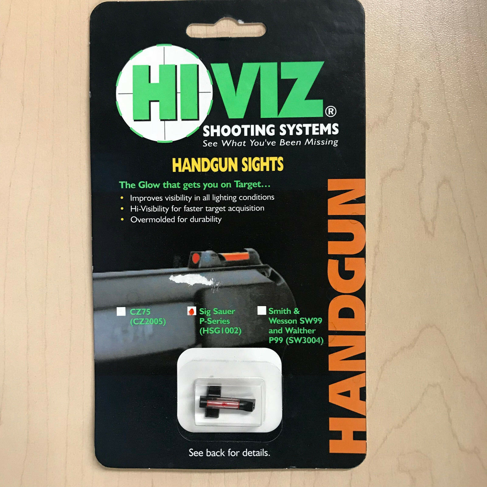 HI VIZ  - HANDGUN SIGHT - SIG SAUER P SERIES (HSG1002) RED