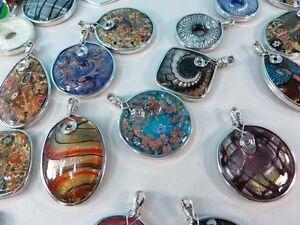 Us sellerwholesale lot of 10 lampwork glass pendants scarf jewelry image is loading us seller wholesale lot of 10 lampwork glass aloadofball Gallery
