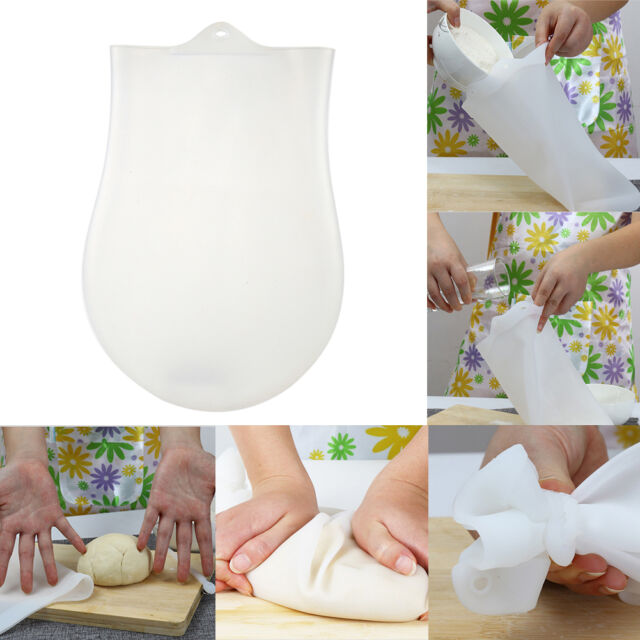 32cm Reusable Silicone Kneading Bag Bread Dough Flour Hand Mix Maker Transparent